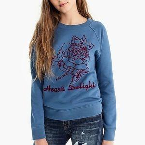 Jcrew hearts delight crewneck pullover sweatshirt